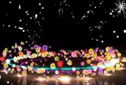 Футаж - Цветочный фейерверк для друзей