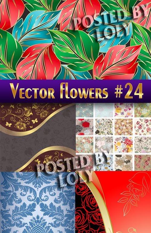 Цветы в векторе #24 - Векторный клипарт