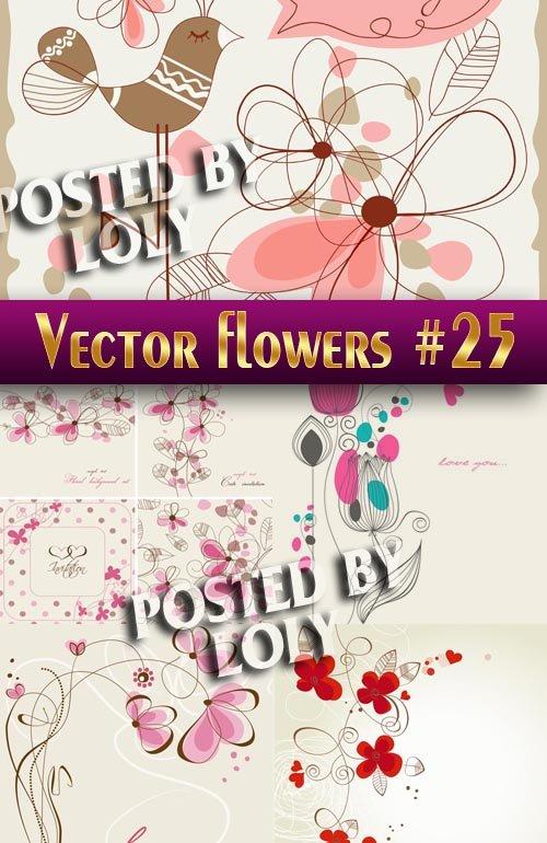Цветы в векторе #25 - Векторный клипарт