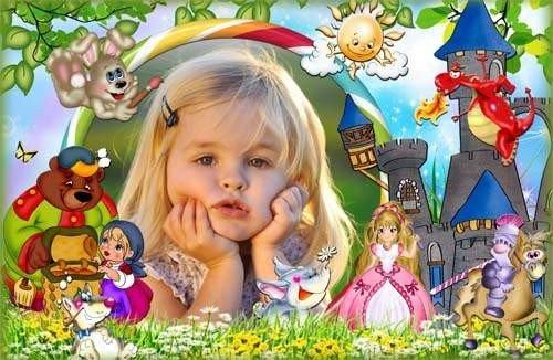 Детская рамка для фото - В мире много сказок