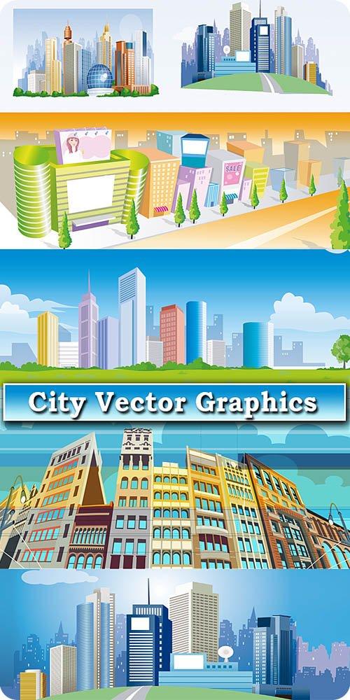 Векторная графика большого города / Vector graphics of big city