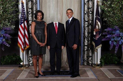 PSD шаблон - встреча с Обамой