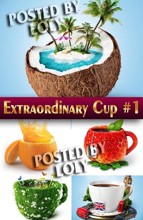 Необычные чашки #1 - Растровый клипарт