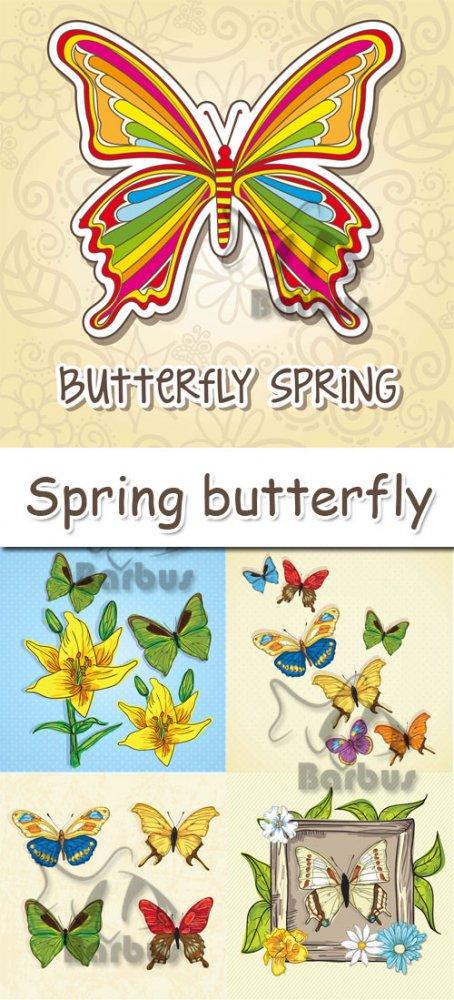 Spring butterfly / Весенние бабочки - vector stock