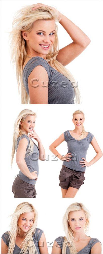 Молодая очаровательная блондинка/ Young blond girl - Stock photo