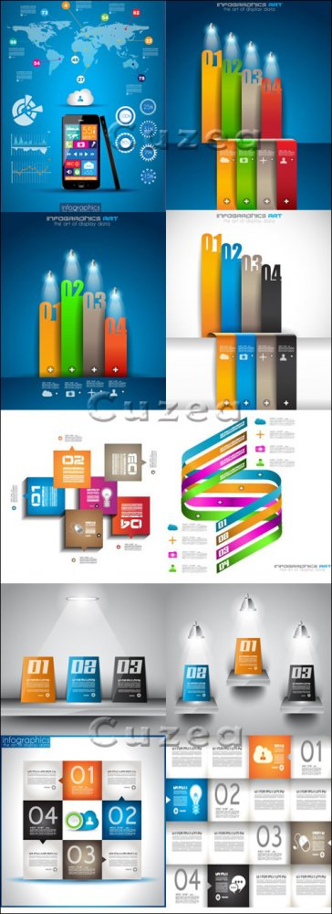 Элементы инфографики/ Infographics design template, part 25