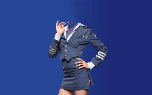 Шаблон для фотошопа - Женщина в симпатичной форме