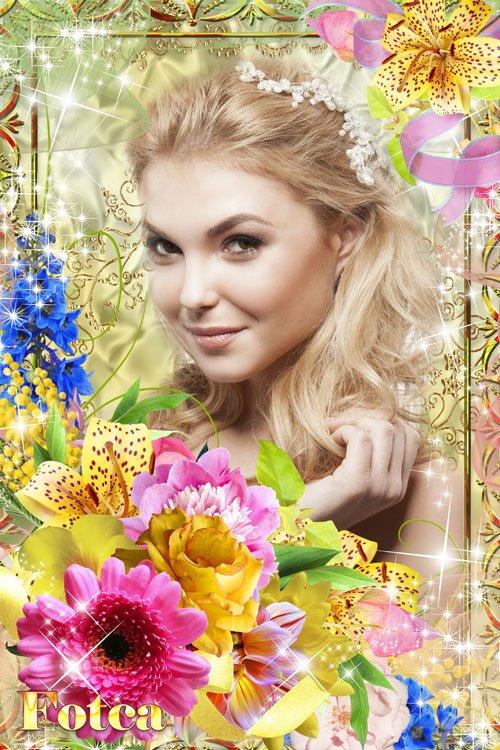 Рамка для фото - Роскошные цветы