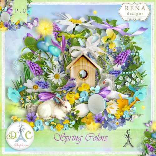 Скрап-набор Spring Colors