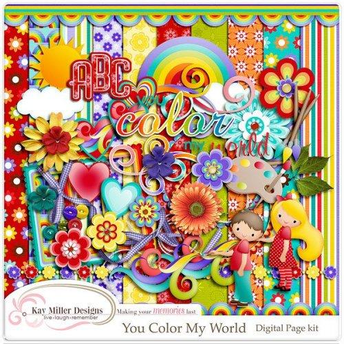 Скрап-набор You Color My World
