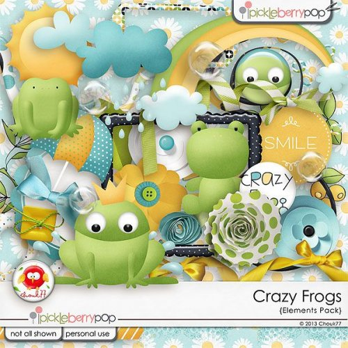 Скрап-набор Crazy Frogs