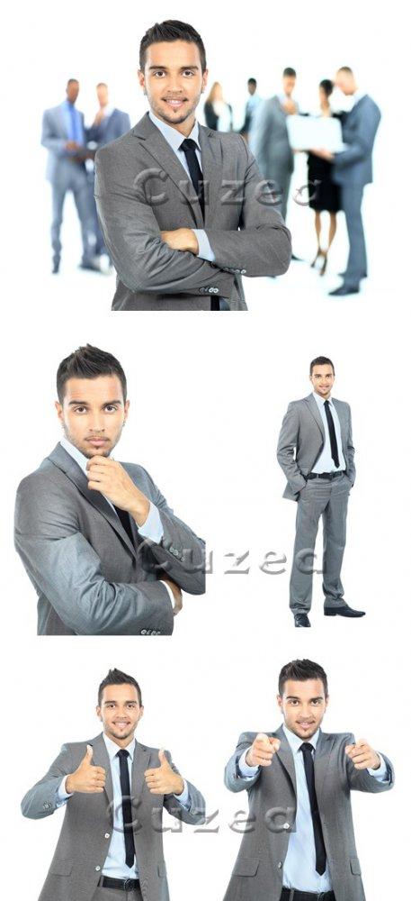 Бизнесмен на белом фоне/ Businessman on white  background - Stock photo