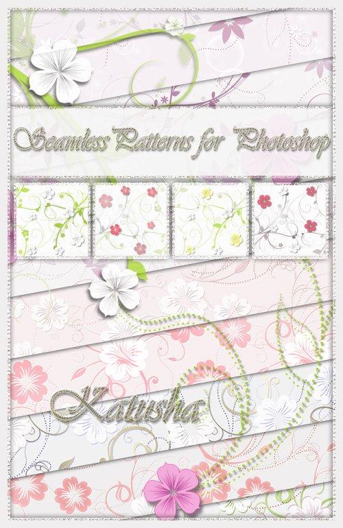 Бесшовные текстуры для Photoshop - Весеннее цветение