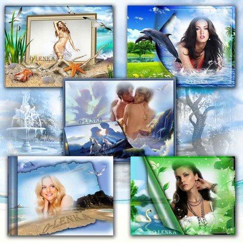 Рамки для фотошопа - Романтика природы