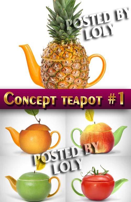 Концепция. Чайники #1 - Растровый клипарт