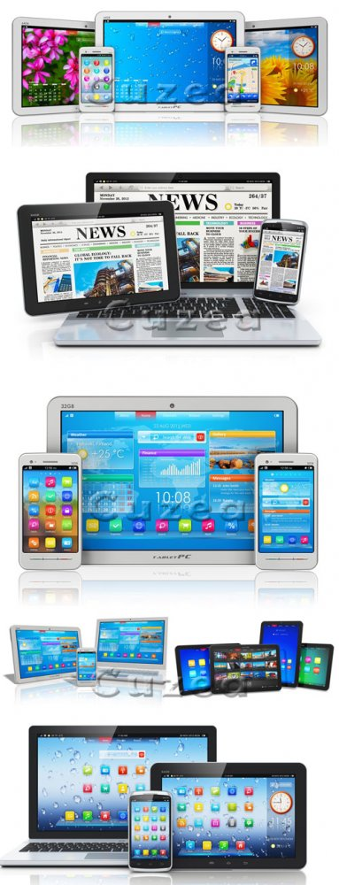 Mobile media devices - Stock photo