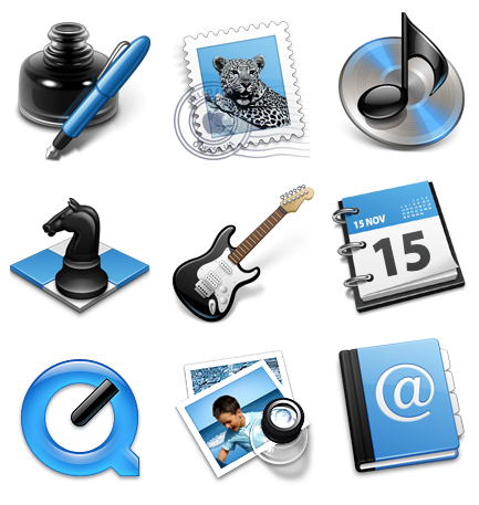 Black & Blue Icon