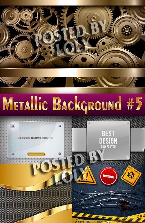 Металлические фоны #5 - Векторный клипарт