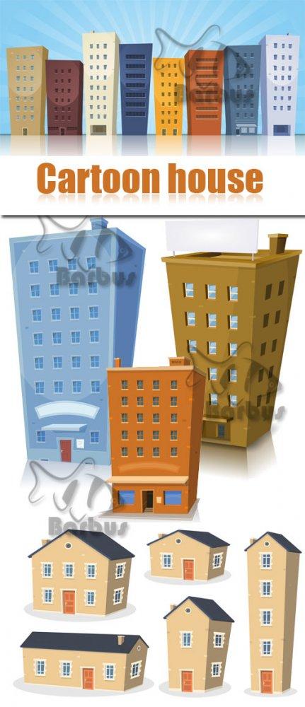 Cartoon house / Мультяшные домики - Vector stokc