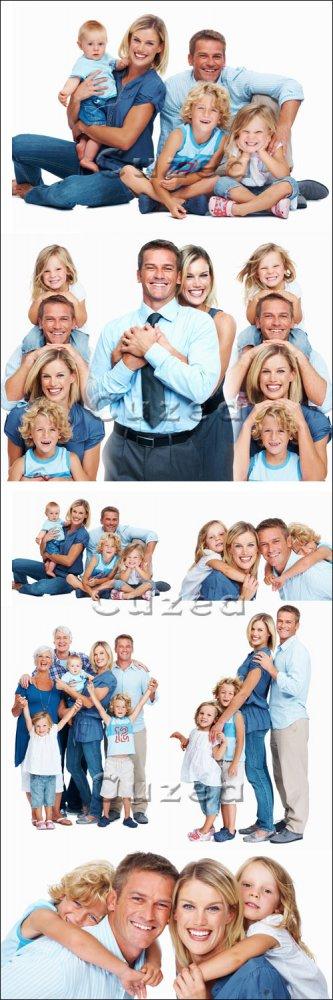Счастливая семья/ Happy family - Stock photo