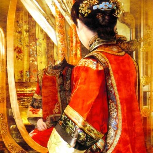 Шаблон для фото - В национальном китайском костюме