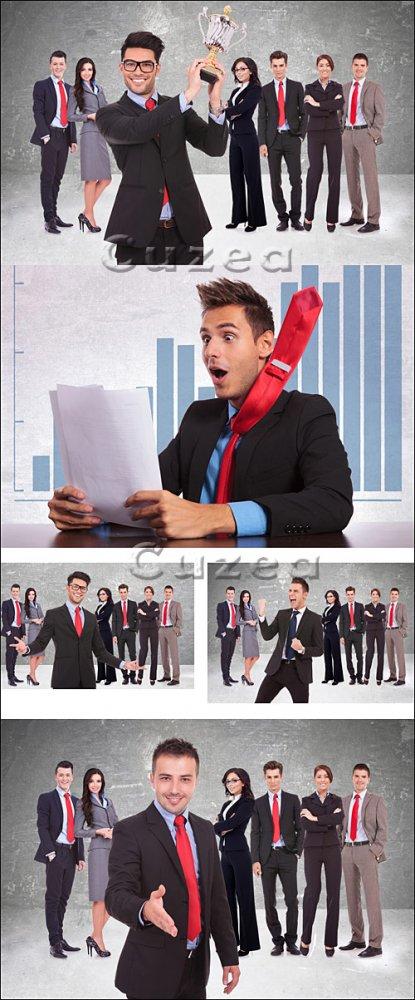 Бизнес команда в красных галстуках/ Businessman and team in red tie - Stock ...