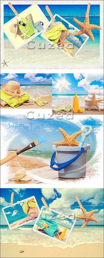 Летний отдых на побережье/ Summer rest on the sea - Stock photo