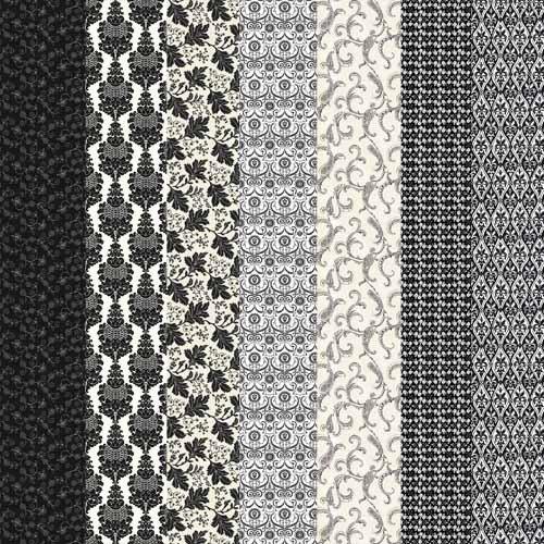 Черно белые узорные фоны