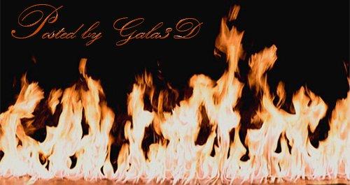 Футажи - Пламя огня