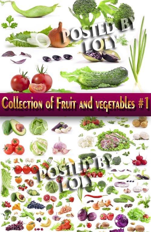 Еда. Мега коллекция. Овощи и Фрукты #1 - Растровый клипарт