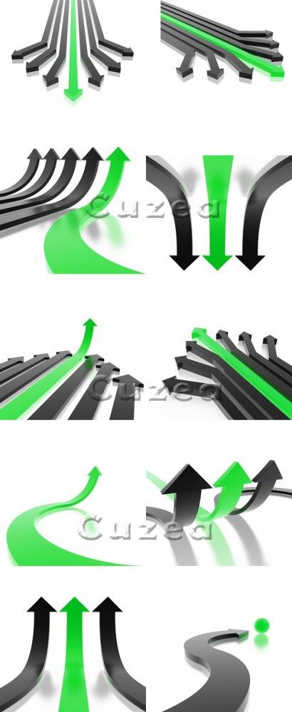 3 д стрелки/ 3d arrows - Stock photo