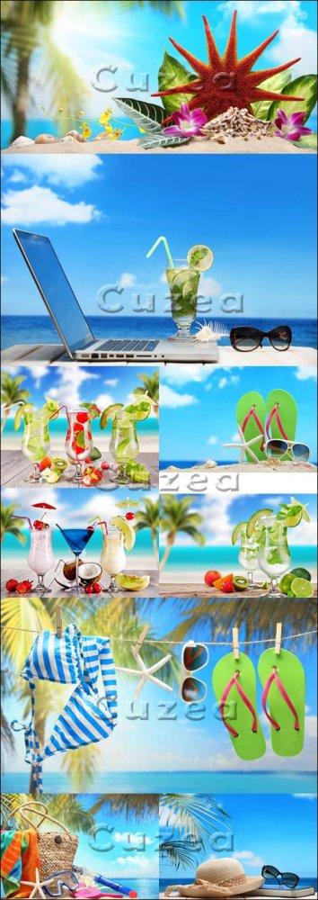 Летний отдых на побережье, часть 2/ Summer on the beach, part 2 - Stock pho ...