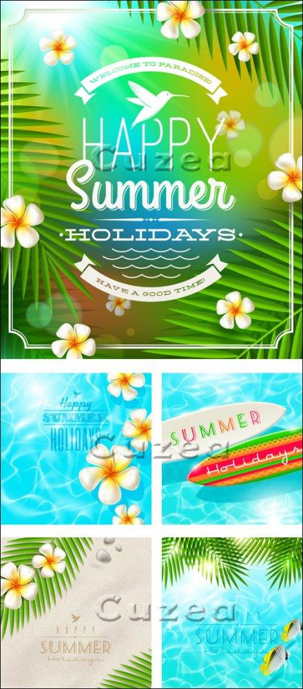 Векторные летние фоны, часть 2/ Summer vector background, part 2