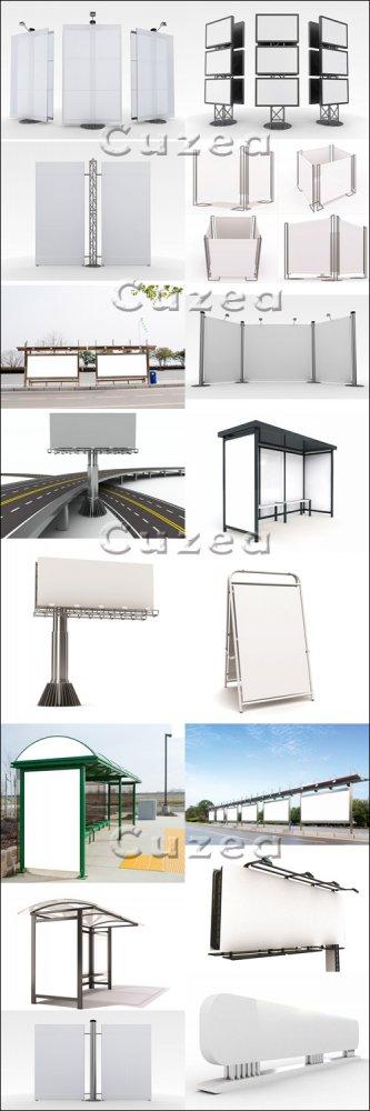 Городские билборды часть 2/ City billboards, part 2 - Stock photo