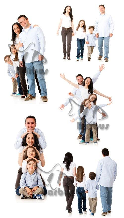 Happy family / Счастливая семья - Photo stock