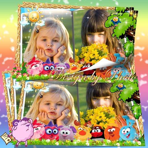 Детская рамка для фото - Смешарики