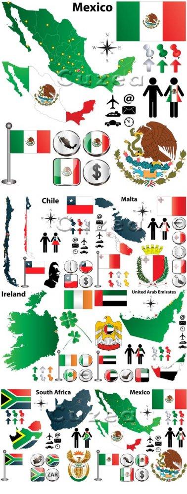 Флаги и символика разных стран, часть 3| Flags and symbols of the different ...