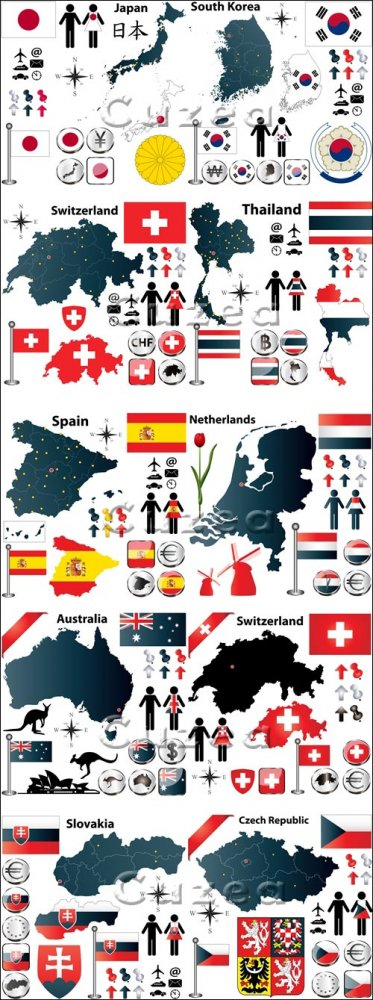 Флаги и символика разных стран, часть 4/ Flags and symbols of the different ...