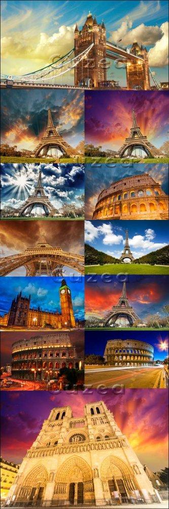 Мировые достопримечательности/ World famous cities - Paris, London, Rim - S ...