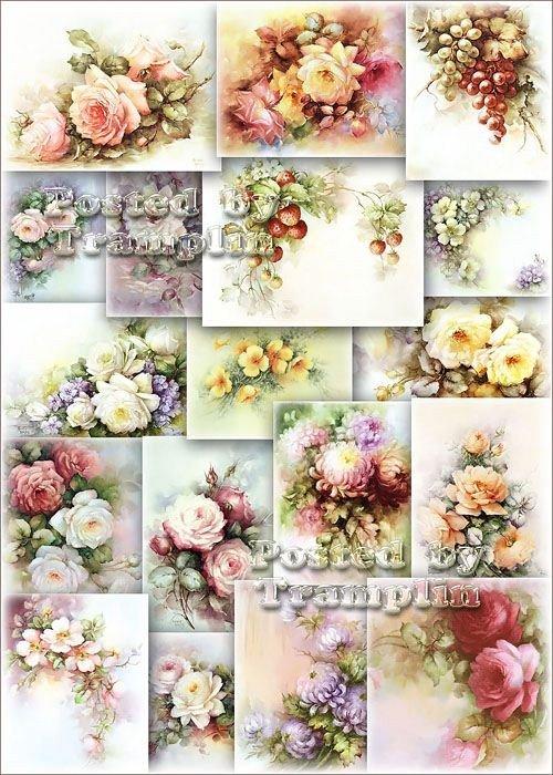 Цветочный Прованс – Красивые фоны для декупажа