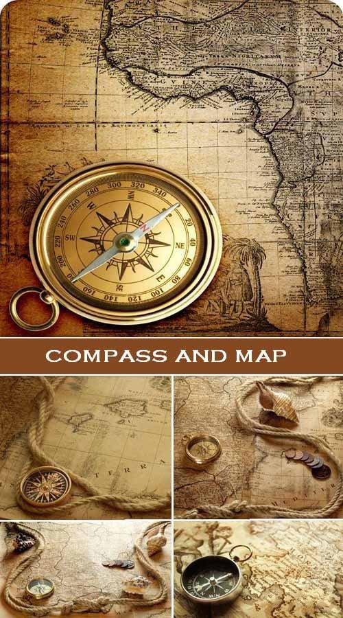 Канат компас и карта (набор HQ фонов)