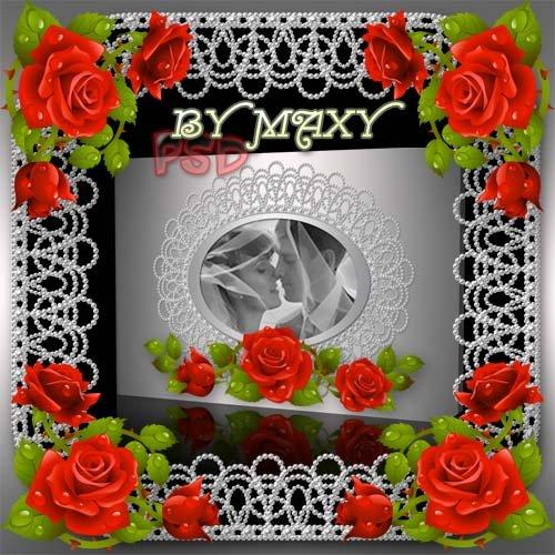 Свадебный фотоальбом с розами
