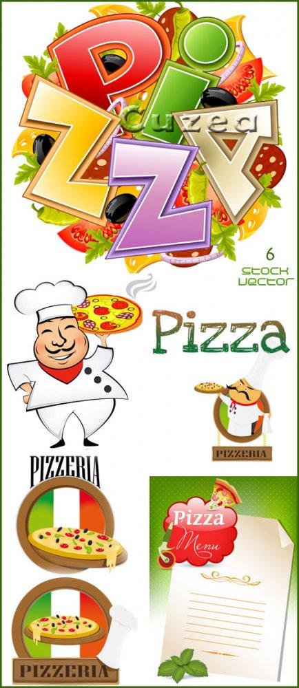 Пицца меню в векторе/ Pizza menu in vector
