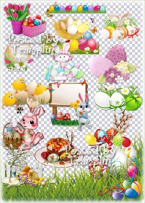 Пасхальный клипарт – Весна идет, она полна чудес - Христос воскрес - Воисти ...