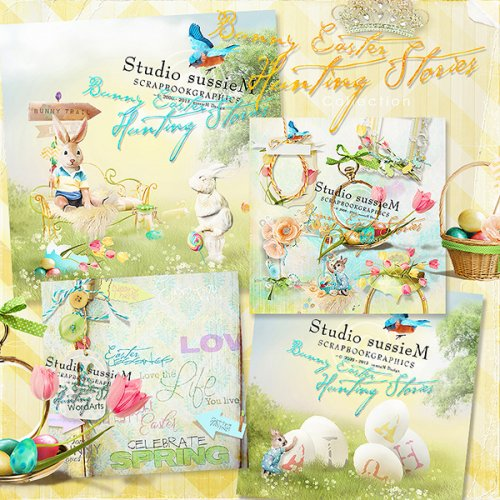 Scrap kit Bunny Easter Hunting Stories