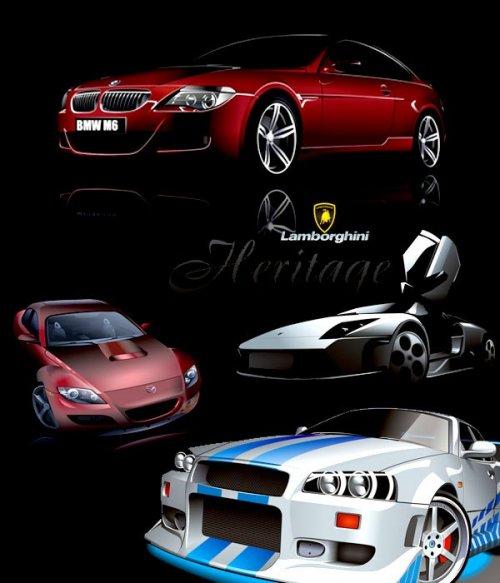Векторный сток: зарубежные автомобили (часть первая)