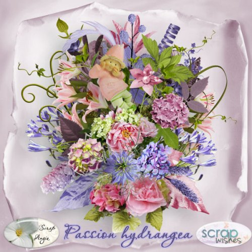 Скрап-набор Hydrangea passion