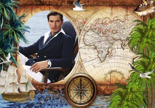 Рамка мужская  '' Приключения на Юге ''