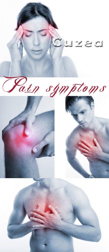 Болевые симптомы/ Pain symptoms - stock photo