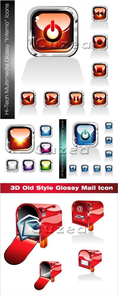 Векторные иконки для дизайна/ Hi-tech icons in vector